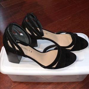 Via Spiga Black Suede Heel Size 8 Slightly Worn